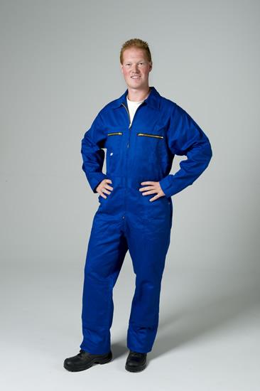 kobalt blauwe overall aanbieding